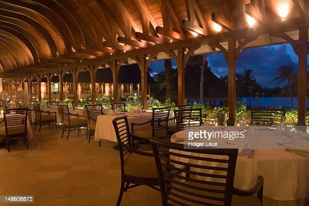 'Three Nine Eight' restaurant in Le Touessrok Resort.
