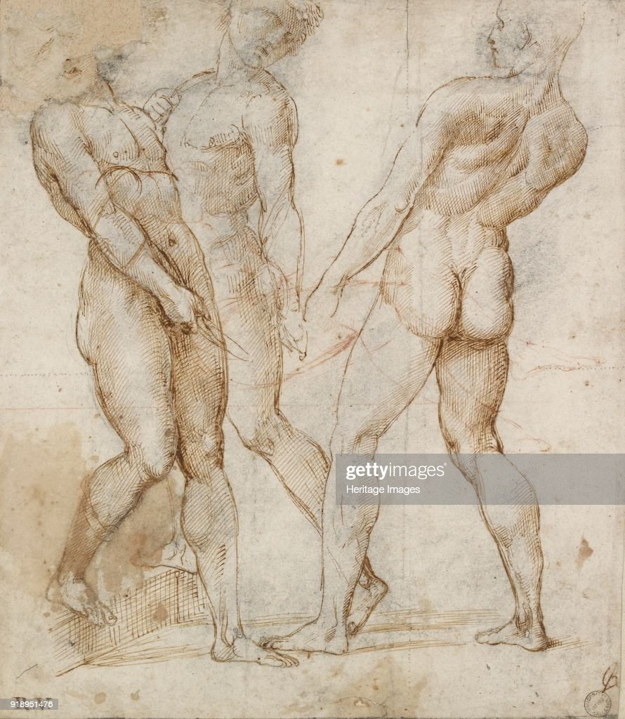 Three Nude Bearers Early 16th Century Dimensions Height X Width
