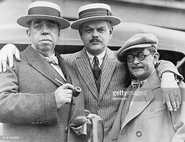Three of a Kin Literaturely Speaking San Francisco Three of a kind in San Francisco on a visit they are left Irvin S Cobb Charles Norris noted author...