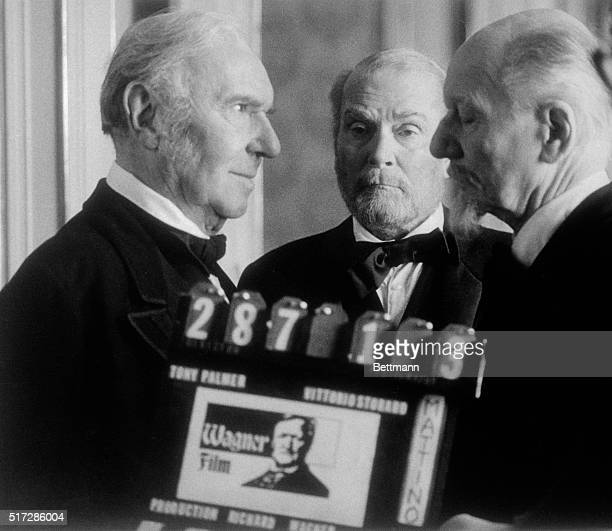 Three of Britain's most respected actors Ralph Richardson Laurence Olivier and John Gielgud all knighted appear together for first time playing...