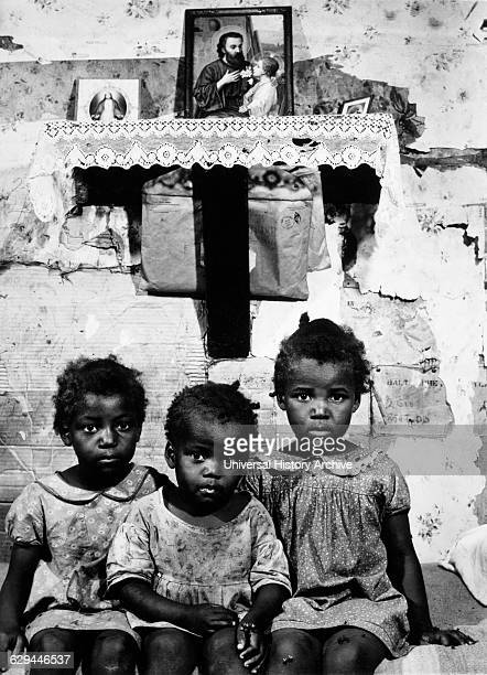 Three of Eleven Ed Grant Children St Mary County Maryland USA by Jack Delano 1940