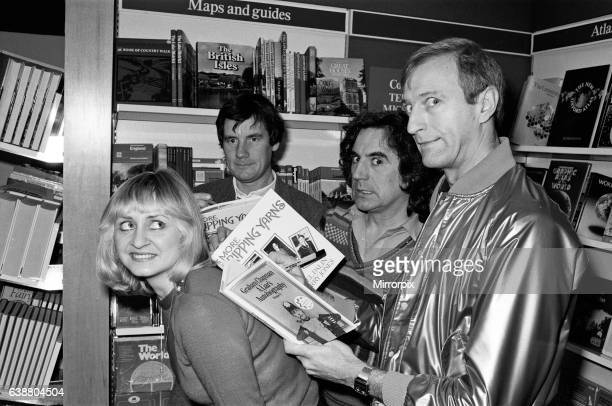 Three of the Monty Python comedy team Michael Palin Terry Jones and Graham Chapman were in WHSmith's at Holborn Circus signing copies of some of...