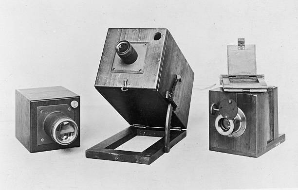 Three of the original cameras used by Fox Talbot for...