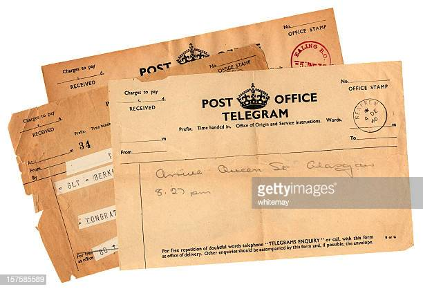 Three old British telegrams