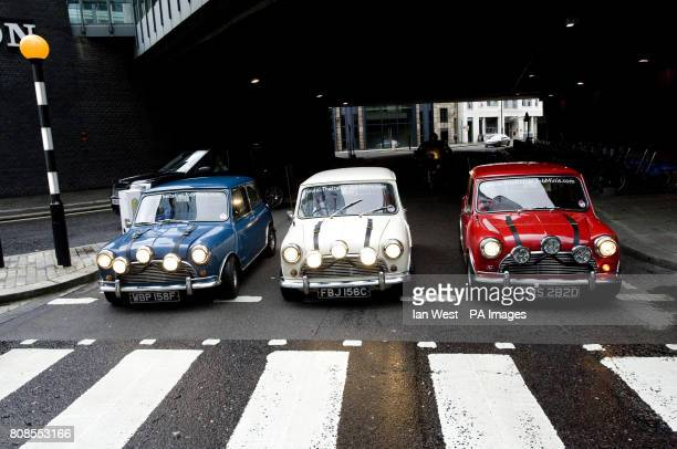 Three original 1960's mini coopers, used by Paramount Pictures to promote the 1969 film The Italian Job, which will go on show at the Museum Of...