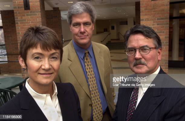 Three out of four of the new leadership team at the new MI Bank in Minnesota IN THIS PHOTO Richfield Mn Fri April 5 2002 Katie Kelley executive vice...