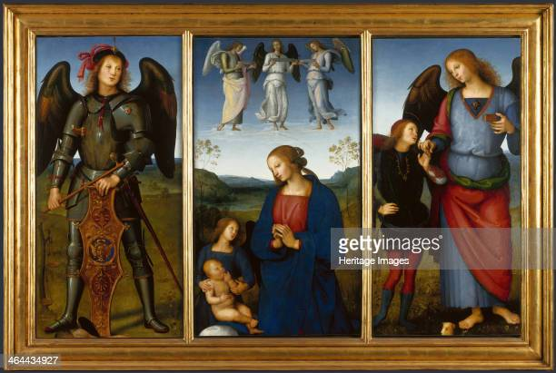 Three Panels from an Altarpiece Certosa c 1500 Found in the collection of the National Gallery London