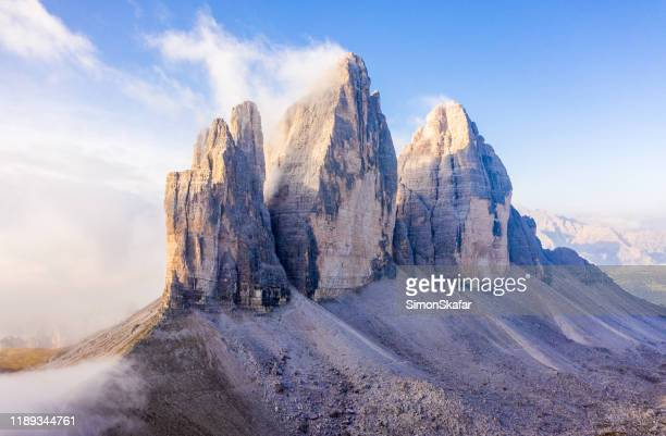 tre cime di lavaredo, dolomites, south tyrol, italy - unesco stock pictures, royalty-free photos & images
