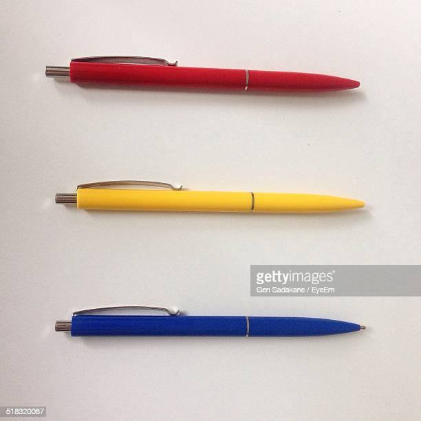 Three Pens In Row