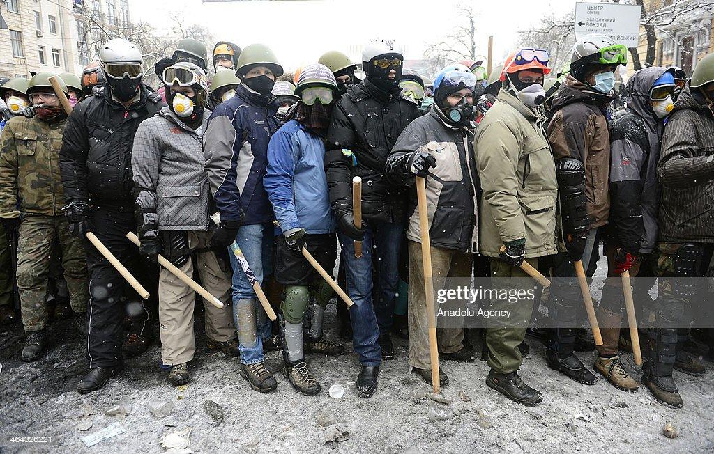 Anti-government protests in Ukraine : News Photo