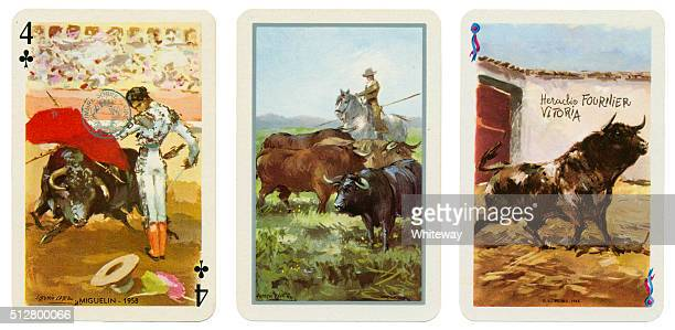 Baraja Taurina bullfight Spanish playing cards 1965