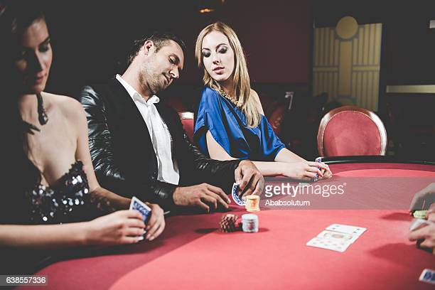 Three Poker Players and Dealer at the Casino, Europe