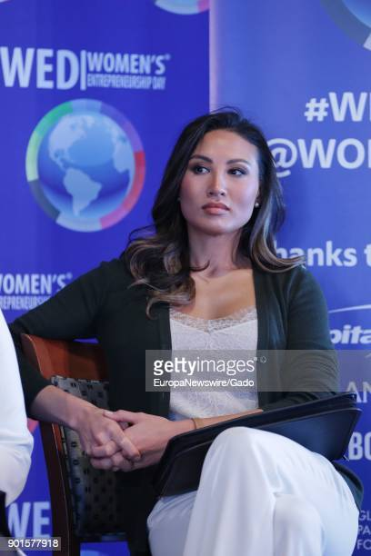 Three quarter length portrait of female entrepreneur Mina Chang at the United Nations headquarters in New York City New York November 17 2017