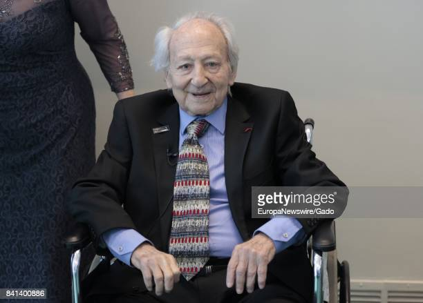 Three quarter length portrait of journalist and holocaust survivor Noah Kliger during the UN Department of Public Information Holocaust Memorial...