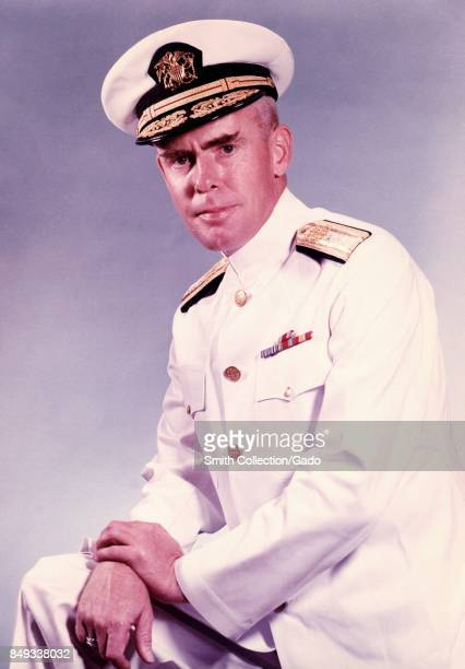 Three quarter length portrait of Public Health Service Commissioned Corp Admiral Jim Goddard 1965 Image courtesy CDC