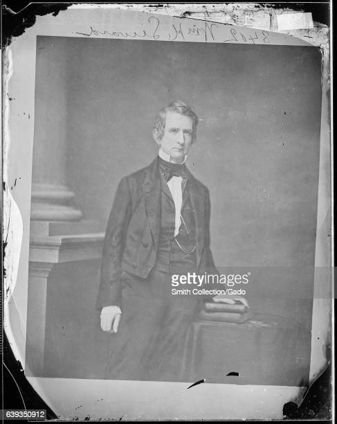 Three quarter length standing portrait of former United States Secretary of State William H Seward 1863 Image courtesy National Archives