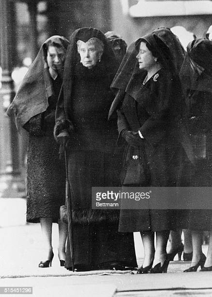 Three Queens Mourn King George VI, 1952