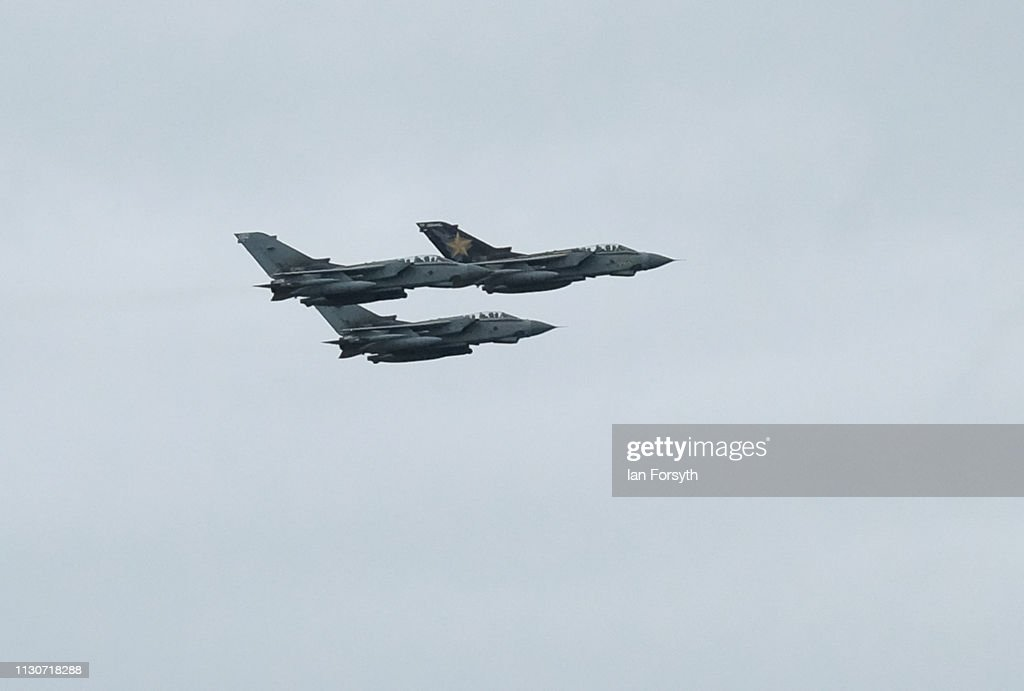 GBR: Tornado GR4s Make Farewell Flypast As They Are Retired From Service