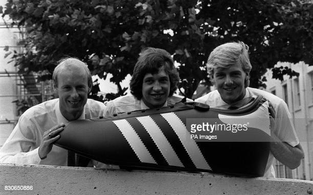 Three recipients of the 'Shoot'/Adidas Golden Shoe Award for the 1982/83 season