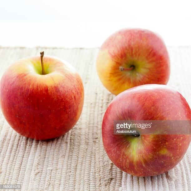 Three Red Kiku Apples