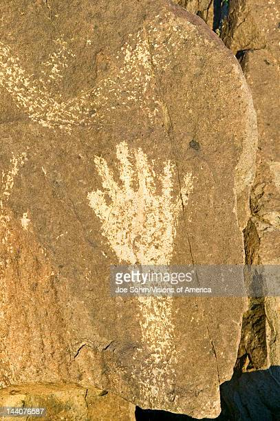 Three Rivers Petroglyph National Site a Bureau of Land Management Site features an image of a hand one of more than 21000 Native American Indian...