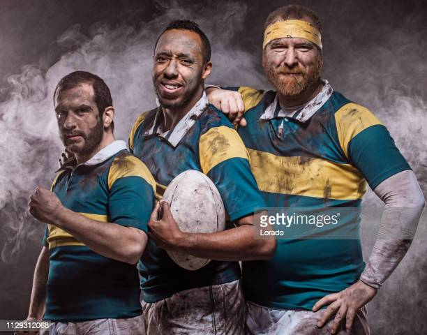 three rugby players - rugby league stock pictures, royalty-free photos & images