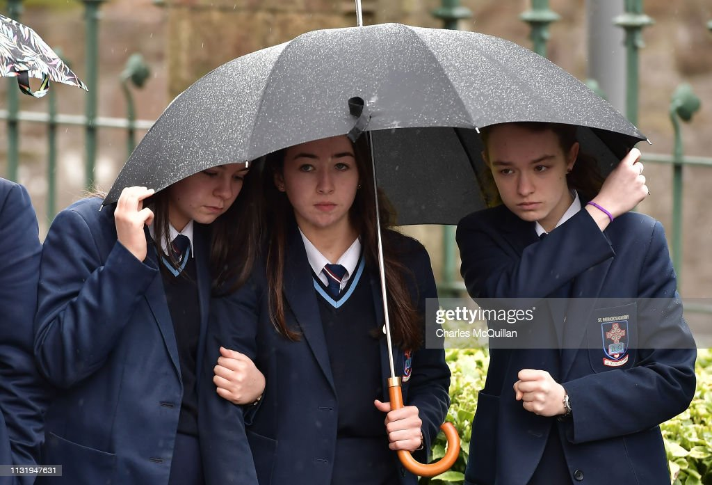 GBR: Funeral Of Morgan Barnard One Of The Three Teenage Victims Of A Crush At A St Patrick's Day Disco In Cookstown