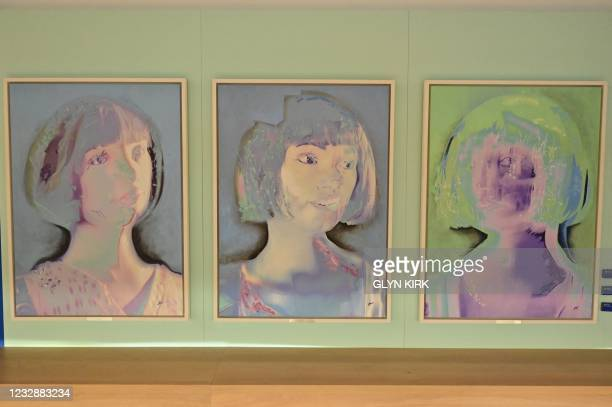 Three self-portraits created by the worlds first ultra-realistic AI robot artist, Ai-Da, who can draw, paint and is a performance artist, are...