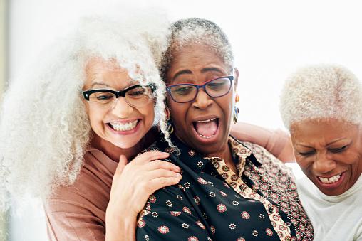 three senior women laughing - gettyimageskorea
