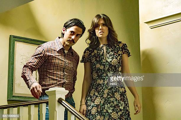 US 'Three Sentences' Episode 113 Pictured Milo Ventimiglia as Jack Pearson Mandy Moore as Rebecca Pearson
