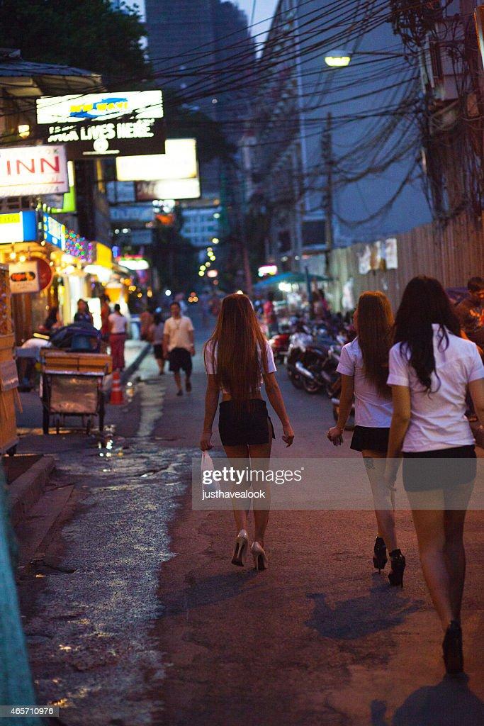 Three sexy Thai ladyboys : Stock Photo