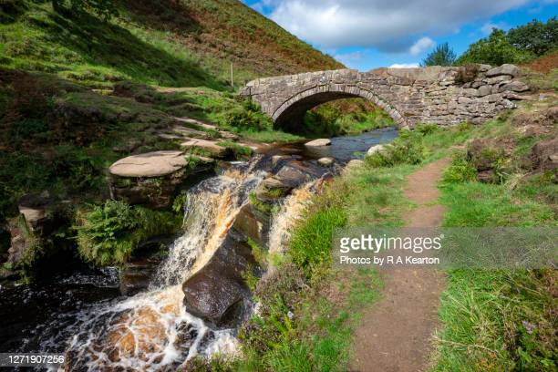 three shires head, peak district, england - footpath stock pictures, royalty-free photos & images