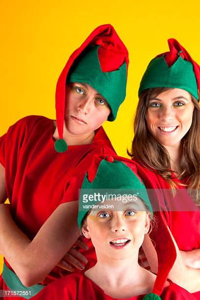 three siblings dressed up as christmas elves - Christmas Elf Makeup