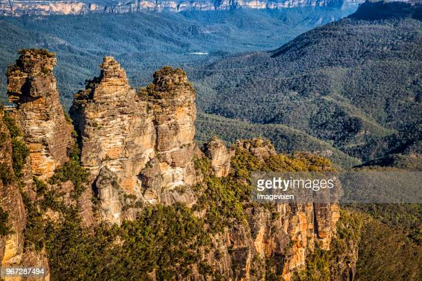 Three Sisters rock formation, Jamison Valley, Blue Mountains, New South Wales, Australia