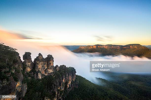 Three Sisters rock in the Blue Mountains