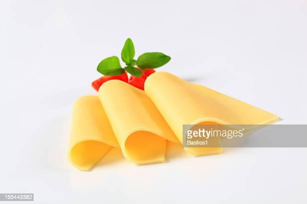 Drei einer Scheibe Käse