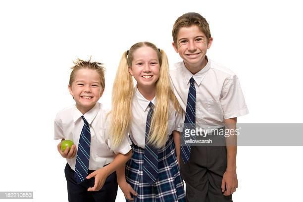 Drei lächelnd School Children