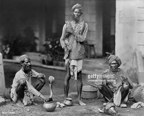 Three Snake Charmers India 1890