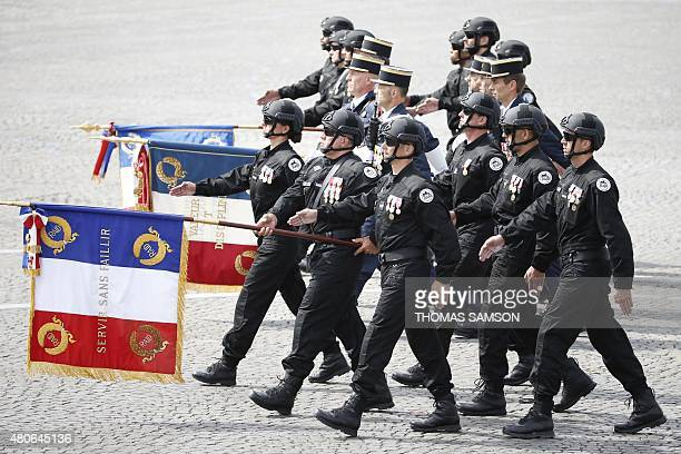 Three Squads of Frances Police elite antiterror special operations units the Research Assistance Intervention and Dissuasion unit the National...