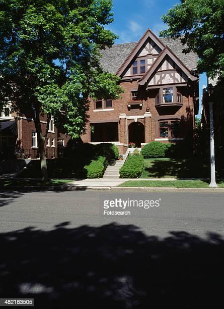 Three story brick Tudor Revival home in Milwaukee Wisconsin