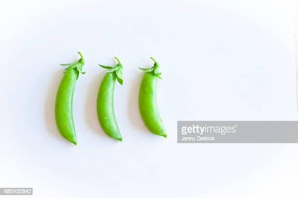Three sugar snap peas