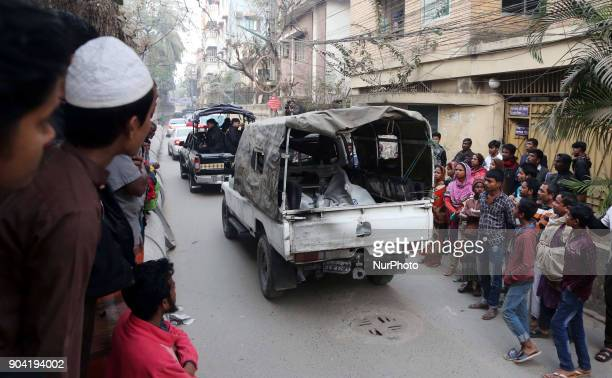 Three suspected extremists were killed and two members of Rapid Action Battalion were injured after the law enforcers carried out a drive at a...