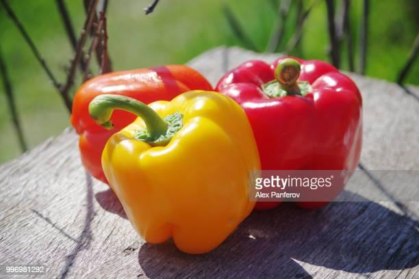 three sweet pepper