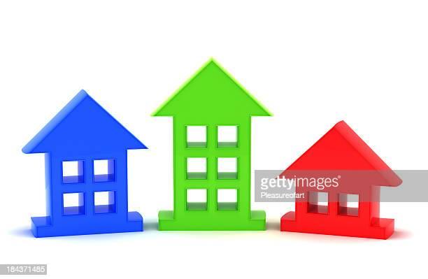 Trois maisons symbolique