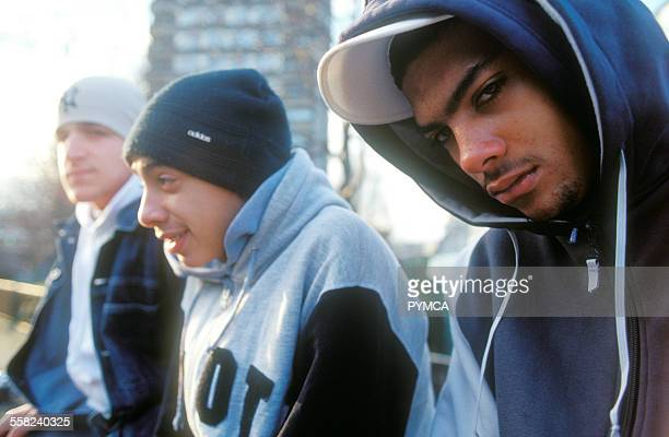 Three teenage boys London 2003
