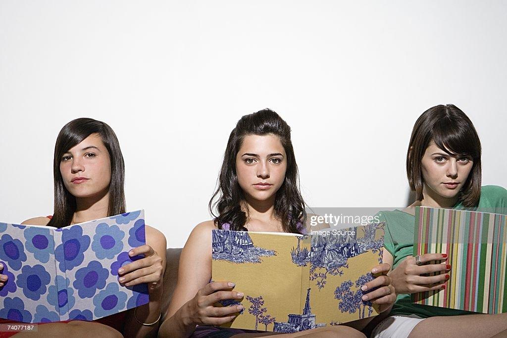 Three teenage girls : Stock Photo