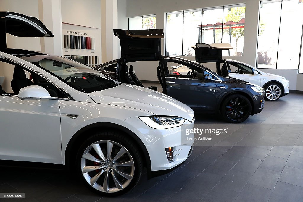 Telsa Opens New Flagship Store In San Francisco : News Photo
