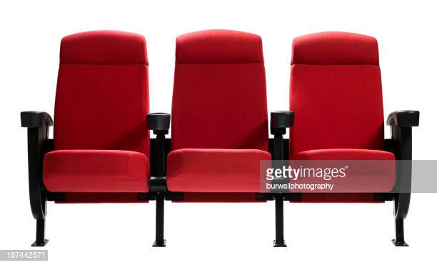 Three Theater Seats, Isolated