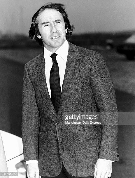 Three time Formula One racing Champion Sir John Young Stewart OBE at Kirkistown Race track Belfast Stewart became world champion in 1969 in a Matra...