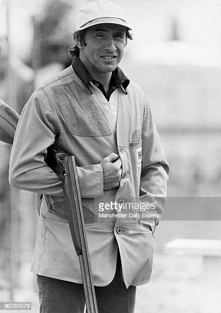 Three time Formula One racing Champion Sir John Young Stewart OBE at the Chester shooting finals He just missed out on a place at the 1960 Olympics...